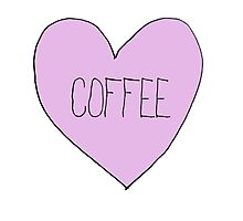 Coffee Sassy Candy Heart Photographic Print