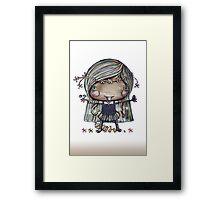 Nature Girl a la naturale Framed Print