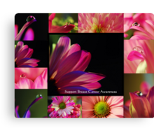 PINK Collection for the Cure - Collage  Canvas Print