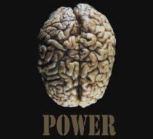 brain power - tshirt by Vana Shipton