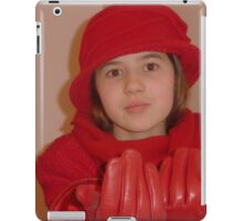 Young Lady In Red iPad Case/Skin