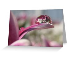 Playing with a droplet Greeting Card