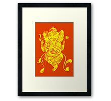 Dancing Ganesh Framed Print
