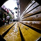 Public bench after the rain by BingBangVision