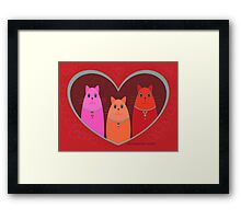 Three Wishes For Valentine's Day Framed Print