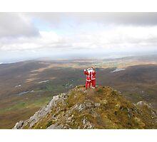 Santa on Errigal Mountain Donegal Ireland Photographic Print