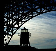 Lighthouse Silhouette by Laurie Search