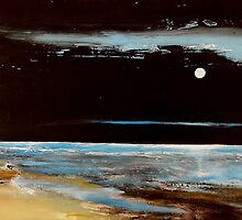 """Natures Night Light"" Abstract w Moon by ToniGrote"