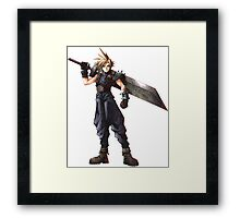 Final Fantasy 7 - FF7 - FFVII - Cloud, with buster sword. Framed Print