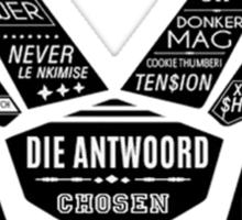 Die Antwoord booklet design Sticker