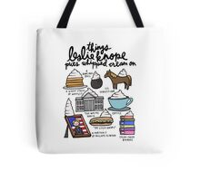 Thing Leslie Knope Puts Whipped Cream On Tote Bag