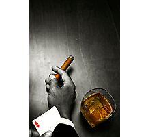 Poker Noir Photographic Print