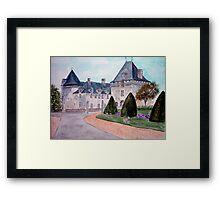 Watercolour                      Chateau  du Mung  Framed Print