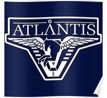 Atlantis Logo (Inverted) Poster