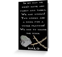 Halo - Two Sticks and a Rock Greeting Card