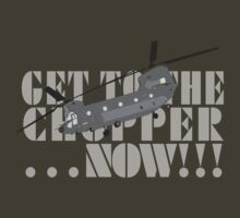 Get to the chopper!! by Sarah Martin