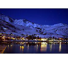 BEAUTIFUL LAKE CHELAN AT NIGHT  Photographic Print