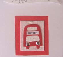 Bus Birthday Card by Sara Hasted
