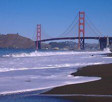 Golden Gate Bridge- Baker Beach by amira