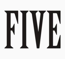 FIVE, NUMBER 5, FIFTH, TEAM SPORTS, Competition, BLACK by TOM HILL - Designer