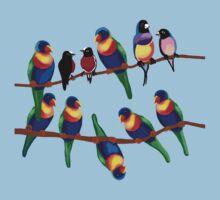Party birds by goanna