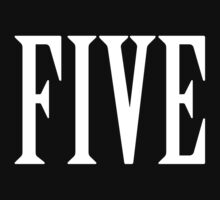 FIVE, NUMBER 5, FIFTH, TEAM SPORTS, Competition, WHITE by TOM HILL - Designer