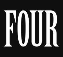 FOUR, 4, TEAM SPORTS, NUMBER 4, FOURTH, Competition, WHITE by TOM HILL - Designer