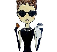 Audrey Hepburn, Breakfast at Tiffany's by palefacedmoon