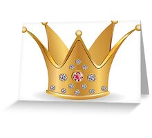 Golden crown 2 Greeting Card