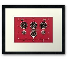 Fire Truck Gauges Framed Print