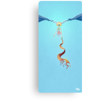 The Aerial Act of Contortion Canvas Print