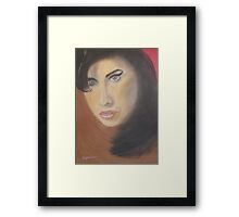 Amy Winehouse... A Star Not Wasted Framed Print