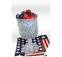 Red, White & Blueberry Poster