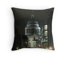 St Paul's Cathedral In The Rain Throw Pillow
