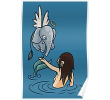 Mermaid and Friend Poster