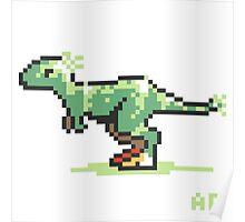 8-bit T-Rex Poster