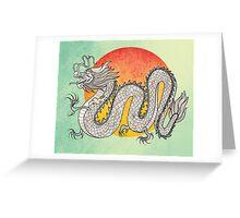 Champagne Dragon Greeting Card