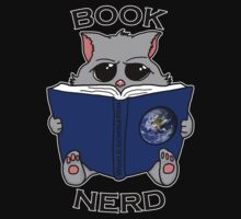 Book nerd - cat reading up on world domination by spectralstories