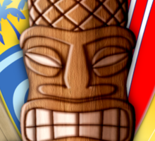 Surfboards And Tikis Sticker