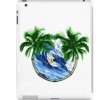 Surfer And Palm Trees iPad Case/Skin