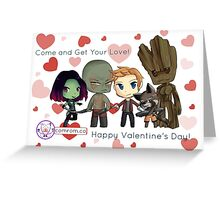 Guardians of the Galaxy Chibis by KlockworkKat Greeting Card