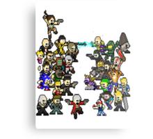 Epic 8 bit Battle! Metal Print