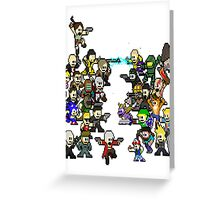 Epic 8 bit Battle! Greeting Card