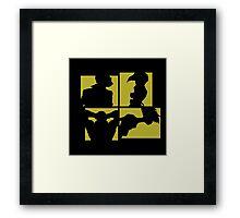 Cowboy Bebop Silhouettes (3nd color). Framed Print