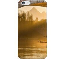 Turin (Torino), sunset on Monviso iPhone Case/Skin