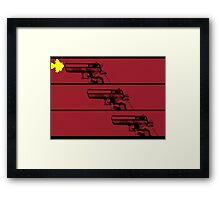 Cowboy Bebop Opening Gun(s). Framed Print