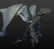 3D sculpture dragon by Darrel Leigh