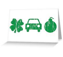 VINTAGE Irish Car Bomb Greeting Card