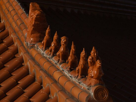 Nan Tien Temple - guardians by Vanessa Pike-Russell
