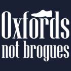 Oxfords, not brogues.  by nimbusnought